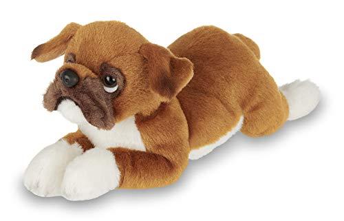 Bearington Lil' Roscoe Small Plush Boxer Stuffed Animal Puppy Dog, 8 inch