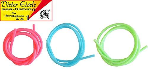 Dieter Eisele Flour Schlauch 1m - Gummischlauch für Meeresmontagen, Farbschlauch für Meeressysteme, Leuchtschlauch, Durchmesser/Farbe:2-3mm / Phosphor