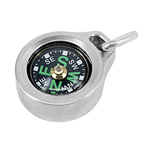MecArmy CMP Titanium/Brass Grade Compass, Teardrop Shaped Survival Compass, Waterproof IPX5 Hiking Compass, Handheld Compass Easy to Recognize Direction (Titanium)