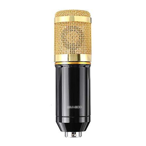 FKSDHDG Mezclador de micrófono Profesional Audio Mic Stand Condensador USB inalámbrico Karaoke KTV Grabación Profesional Tarjeta de Sonido Bluetooth en Vivo (Color : Yellow)