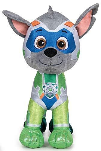 OTTO Peluche Pat Patrouille 29 cm Chien Rocky Collection Super Heros - myghty Pups - Doudou Licence - Enfant - Chiots