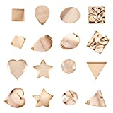 PandaHall 16pcs 8 Stili Ottone orecchino Post Pin Vero Oro Placcato Cuore Ovale Piatto Rotondo orecchino Base Ear Stud Risultati componenti per orecchino Fai da Te monili Che Fanno (8 Coppie)