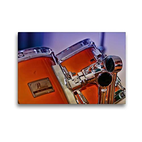 CALVENDO Premium Textil-Leinwand 45 x 30 cm Quer-Format Schlagzeug - einfach cool, Leinwanddruck von Peter Roder