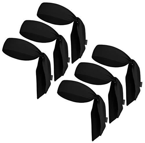 Head Tie & Sports Headband - Ninja & Tennis Bandana - Tie Back Sweatband for Men, Women, Kids & Pirates - Athletic Hair Band / Wrap for Karate, Basketball, Softball, Running & Workout - Sweat Wicking
