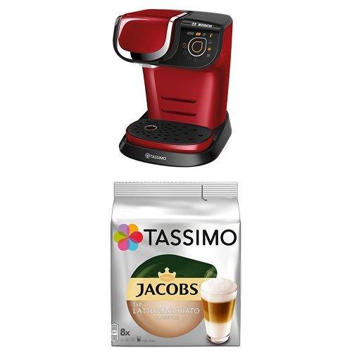 Bosch Tassimo My Way TAS6003 Multigetränkeautomat + Tassimo Jacobs Typ Latte Macchiato Classico, 5er Pack Kaffeespezialität T Discs