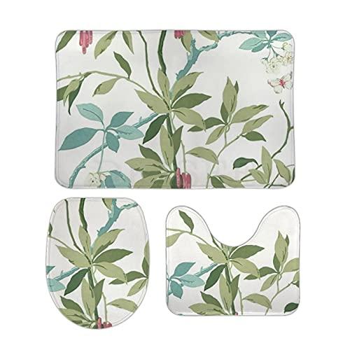 DKISEE Sanderson Lot de 3 tapis de bain en polaire corail ultra doux et absorbant 50,8 x 81,3 cm