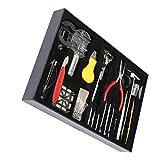 Chowceng Destornilladores 155 Kit de Herramientas de Nuevo Caso de Piezas de relojero reparación del Reloj del abrelatas del removedor de Primavera Pernos Bar Enlace Anti-magnéticos