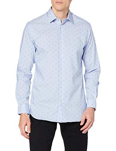 SELECTED HOMME Herren SLHSLIMPEN-Barth Shirt LS B NOOS Businesshemd, Blau (Light Blue Pattern: Dobby), Large