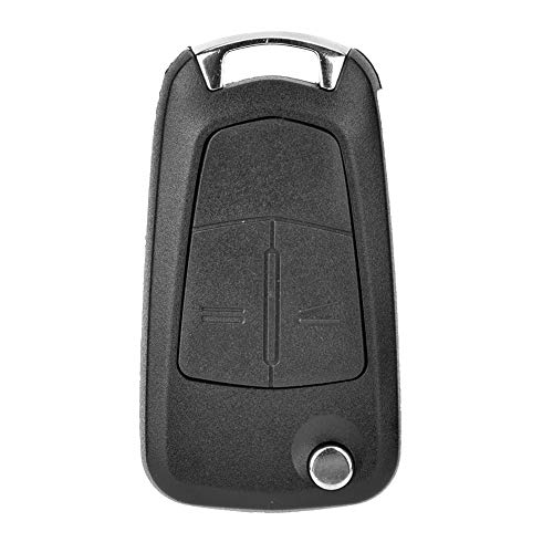 Coque de clé, boîtier de clé de voiture Chacerls boîtier de clé pliable de voiture automatique 2 boutons accessoire pour Vauxhall/Opel Astra H
