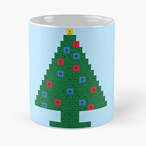 Chemistry Christmas Tree Periodic Table Classic Mug -11 Oz Coffee - Funny Sophisticated Design Great Gifts White-situen.
