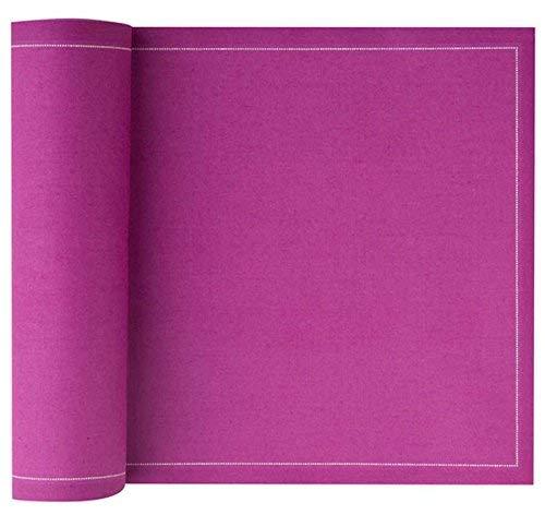 MYdrap 20x20cm Serviettes déjeuner et fête Tissu/Coton Rouleau de 25 Serviettes Orchidée