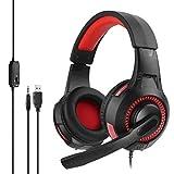 SWNN Auriculares QWEE Auriculares con micrófono Hi-Fi LDE Glow Gaming Headset para PC PS4 X-box One (color: 2)