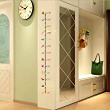 Urdhva Retail Under Sea Animal Height Measure Wall Sticker Kids Room Baby Growth Chart Beautiful Mural Poster Home Decor