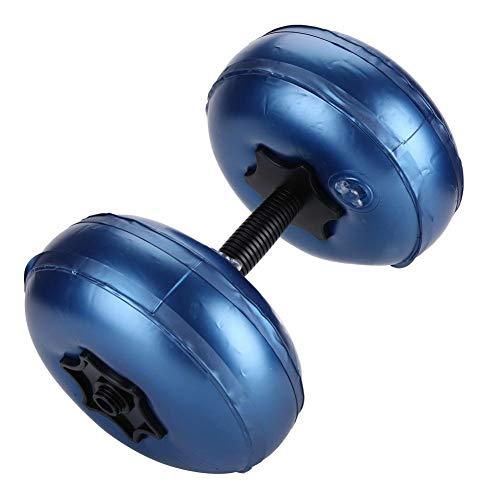 Tarente Wasser Hantel, Hanteln 10kg, Einstellbare Hantel Wasser gefüllte Barbells umweltfreundliche Fitnessgeräte (8~10 kg Blau)