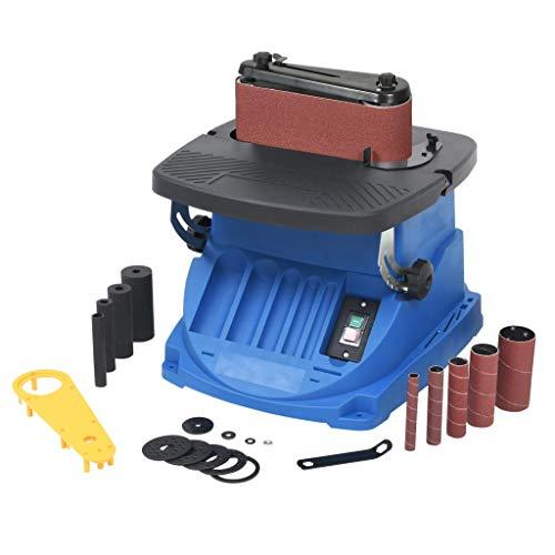 vidaXL Lijadora Husillo Banda Oscilante 450 W Azul Máquina Lijar Correa Tambor