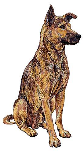 Pegatina de pared Salón Perro pastor alemán Motivo animal para pegar fieras vida animal sabuesos bordadoras mascota es reino animal