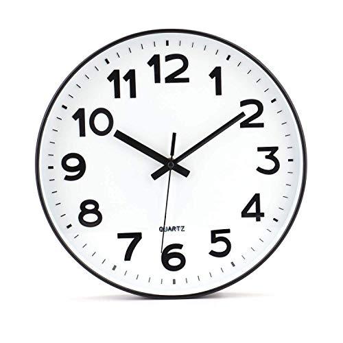 Tebery No de tickende Modern Reloj de Pared DIY para salón Oficina de Cocina...