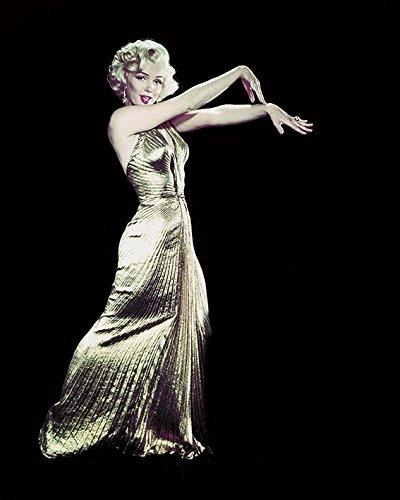 Time Life Marilyn Monroe-Gold Jurk 40 x 50cm Canvas Prints, Polyester, Meerkleurig, 40x50x3.2 cm