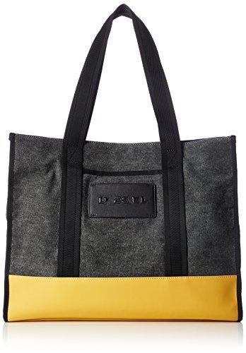 Diesel Herren M-CAGE Shopper-Shopping Bag Turnbeutel, anthrazit/Goldener Stab, Einheitsgröße
