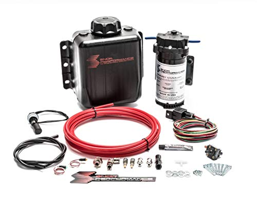Stage 1 Boost Cooler Forced Induction Water-Methanol Injection Kit (Red High Temp Nylon Tubing, Quick-Connect Fittings)
