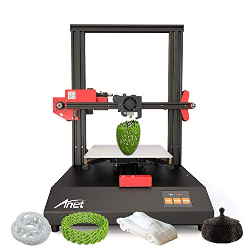 Aibecy Anet ET4 3D Printer Metal Frame Structure Build Volume 220 * 220 * 250 with 2.8 Inch Color Touchscreen Heatbed Support Resume Power Failure Printing/Filament Run Out Detection/Auto Leveling