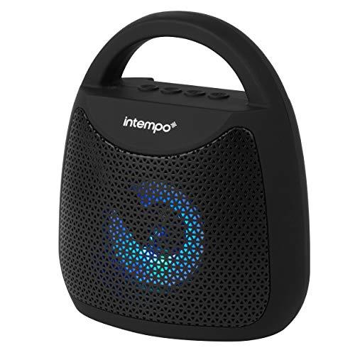 Intempo® EE5913BLKSTKEU7 Tempo tragbarer LED-Lautsprecher | Farbwechselleuchten | Tragbar | 25m Funkreichweite | 5W