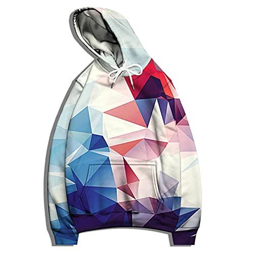 SSBZYES Sudadera para Hombre Camiseta De Manga Larga Sudadera con Capucha Suéter De Gran Tamaño Casual Patrón Geométrico Suelto Suéter Estampado Suéter De Pareja Chaqueta