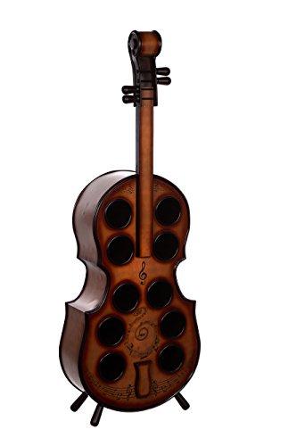 Regal Violinenoptik JJ0004 Weinregal mit Ablagefach 135 cm hoch Schatzkiste, Piratenkiste, Kleinmöbel, Mit...