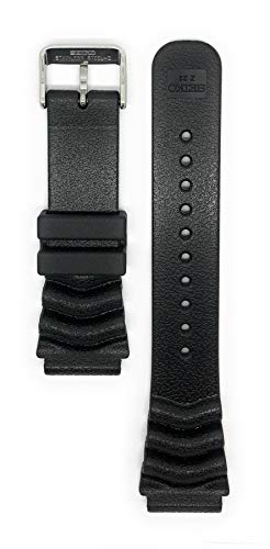 "Fashion Shopping Seiko ""Monster"" Diver Strap (22mm, Black, 4FY8JZ)"