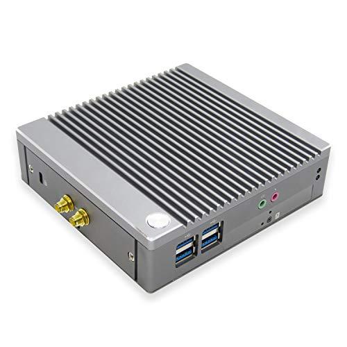 Skynew ファンレス ミニPC ほぼ無音 省電力 Celeron N2840 / 4GB DDR3L / 128GB SSD/Wi-Fi Bluetooth 4.2 豊富なインターフェースを搭載 デュアルモニター対応 PXEブート WOL RTC Window10 Pro 小型PC 静音 小型パソコン デスクトップ ミニパソコン K3【メーカー保証:1年】