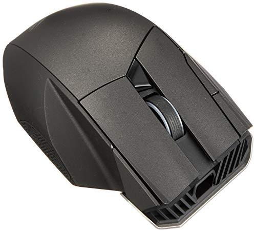ASUS ROG Spatha RF Wireless + USB Laser 8000 DPI Maus (Links, Laser, RF kabellos + USB, 8000 DPI, 178,5 g, schwarz)
