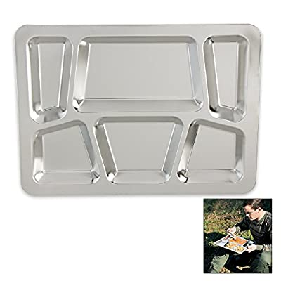 K EXCLUSIVE Military Surplus Stainless Steel Dining Tray