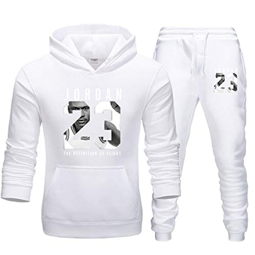 Jordan Herren 2er-Set Sport-Trainingsanzug 2pcs Gym Basketball Sportswear Jacke Casual Sport Sweater Hose, C, XXL