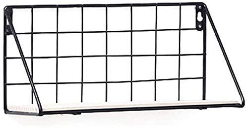 SHANGHh Wand Metall Drahtregal Halter passend für Blumentöpfe Regal Balkon Pflanzen Lagerung und Bücherregal/Badezimmer Lagerung (schwarz)