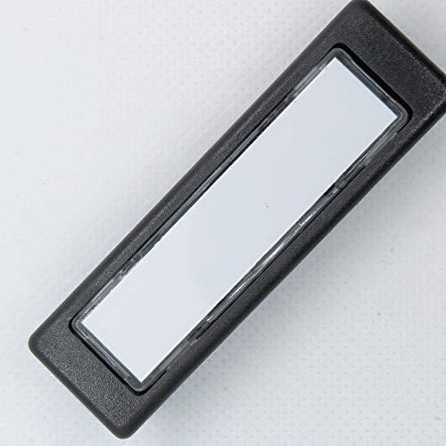 Licht-Klingeltaster Lira Kombitaster Kunststoff für Sykon und Renz 97-9-85110 integ Namenschild anthrazit