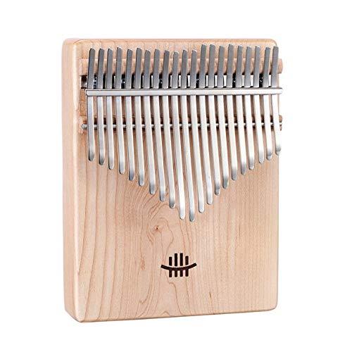 Kalimba, Daumenklavier Neues 21 Keys Daumenklavier Mahagoni Ahorn Akazie Walnuss mit Tuning Hammer Musikinstrumente-Skala-Aufkleber-Stoff-Tasche for Anfänger (Color : Maple)
