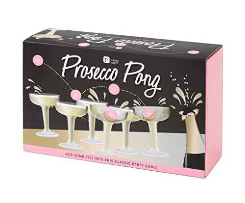 Talking Tables PROSE-PONG Prosecco Pong Bachelorette Party Drinking Game, 12 Glasses