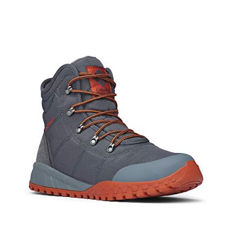 Columbia Men's Fairbanks Omni-Heat Ankle Boot, Graphite, Dark Adobe, 12 Regular US