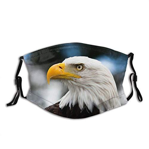 Gesicht Mas-Ke Eagle Foto des Kopfes der Freiheit Symbol in Amerika mit unscharfem Hintergrund Sturmhaube Mund Bandanas Hals Gamasche mit 2 Filtern