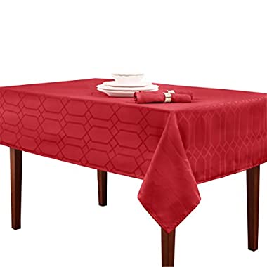 Benson Mills Chagall Spillproof Tablecloth,Scarlet,60 X 84