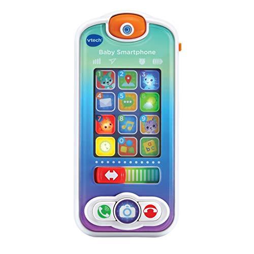 VTech - Baby Smartphone, teléfono Interactivo para bebés +12 Meses, Dos Pantallas táctiles, Diferentes apps de Juguete para interactuar simulando a los Mayores, Multicolor, versión ESP