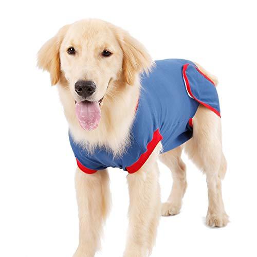 Ponacat Rehabilitationsanzug für Hunde, Bauch-Wundschutz für Welpen, chirurgisches Hemd, Kegelform, E-Kragen, alternatives Heilungskostüm, Haustierpfosten nach Operationen, Anti-Lecken