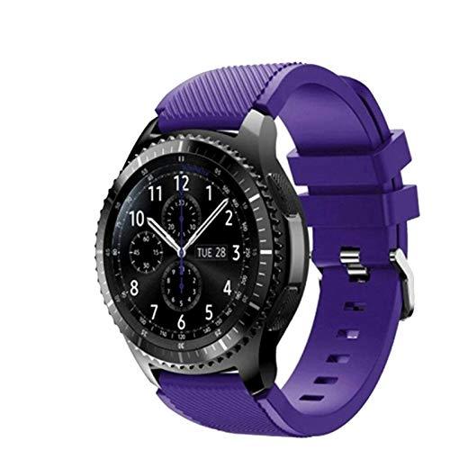 FunBand Gear S3 Frontier Cinturino, 22mm Braccialetto Morbido Sportivo di Ricambio in Silicone per Samsung Gear S3 Frontier   S3 Classic Galaxy Watch 46mm   Moto 360 2nd Gen 46mm Smart Watch