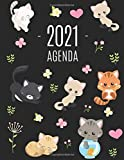 Gatti Agenda 2021: Diario Settimanale per Organizzare Giorni Occupati | Pianificatore Giornaliera 2021