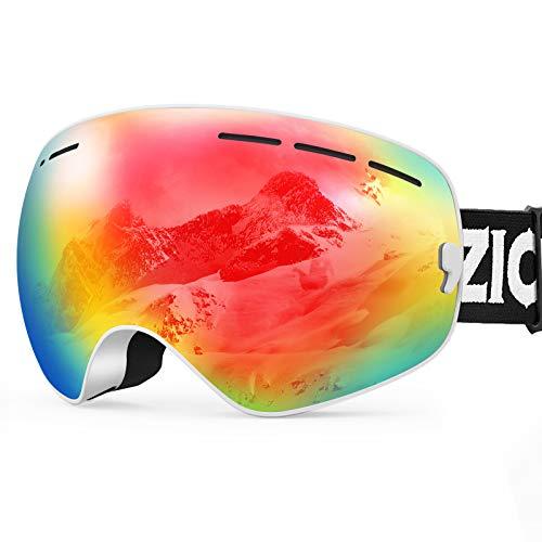 ZIONOR Lagopus X Mini Kinder Skibrille Verspiegelt Snowboard Skate Schneebrille mit 100{55e86d53492b1ba987c7bb57f332a0db6b3399dbb272716ce2aa166f50f2ef22} UV-Schutz Anti-Nebel abnehmbare WeitWinkel Doppel-Panorama-Objektiv für Kinder, Jugend
