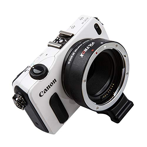 Viltrox EF-EOS M Elektronischer Autofokus-Objektivadapter für Canon EF/EF-S-Objektiv an Canon EOS-M (EF-M Mount) Kamera M3 M5 M6 M10 M50 M100 -MEHRWEG