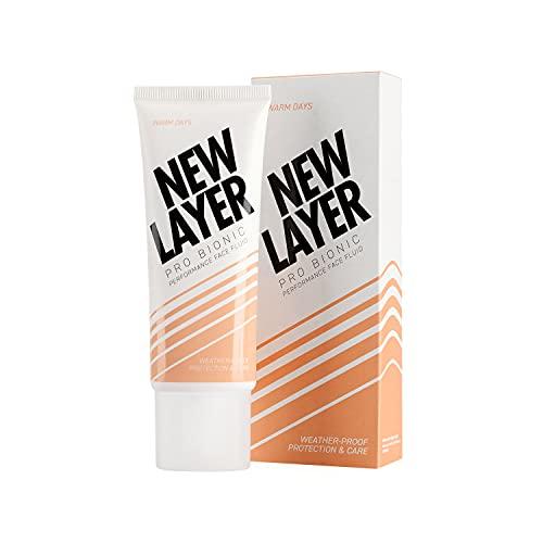 NEW LAYER Pro Bionic Gesichtsfluid | Tagespflege LSF 20 für wärmere Tage | Bio Hyaluron | Pro Vitamin D | Probiotischer Komplex | Ectoin schützt vor Blaulicht & Feinstaub |...