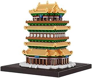 AY モデル都市のゲームビル、コウノトリ鳥ハウスの有名な中国岳陽黄鶴楼ダイヤモンドミニブロック・アーキテクチャ