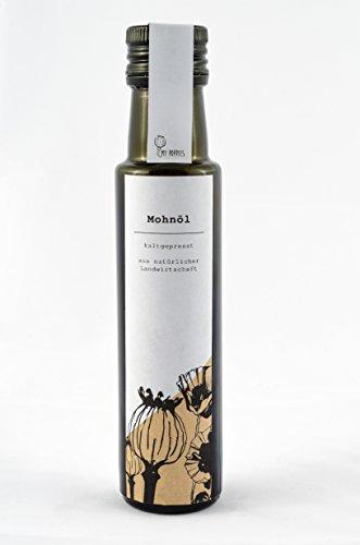 My Poppies - Mohnöl, Poppy Oil   Handcraftet & Kaltgepresst   gepresstes Mohnöl zum Backen, Kochen   1 Flasche (100 ml)