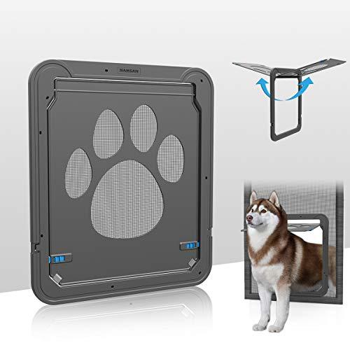 PETLESO Sportello per animali domestici con zanzariera, porta per cani e gatti, con chiusura magnetica, facile da installare, per gatti e cani (42 cm x 37 cm)